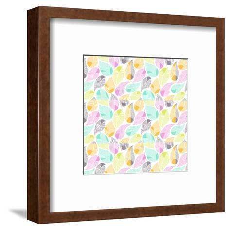Bright Colored Leaf Pattern--Framed Art Print