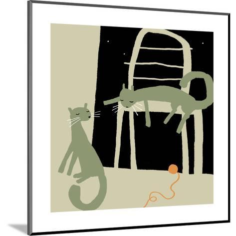 Sleepy Cats after Playtime--Mounted Art Print
