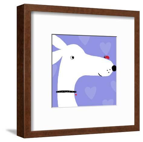 Ladybug on Dog's Nose--Framed Art Print