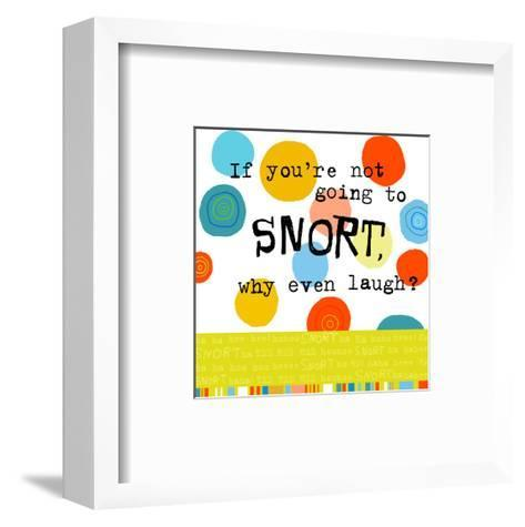 Snort Laugh--Framed Art Print