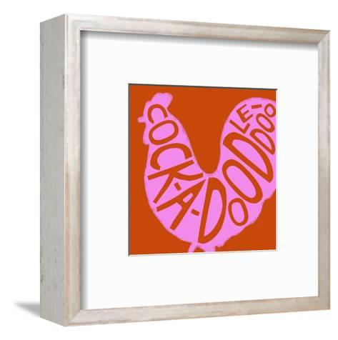 Pink Rooster--Framed Art Print