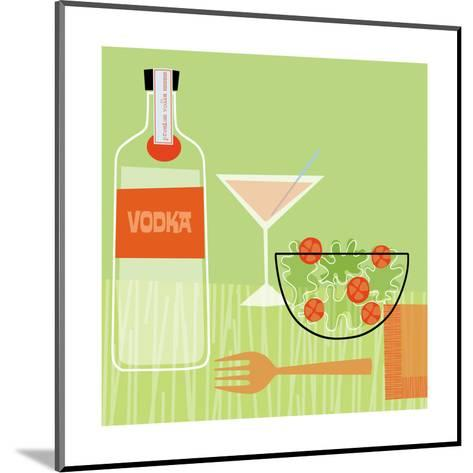 Vodka and Salad--Mounted Art Print