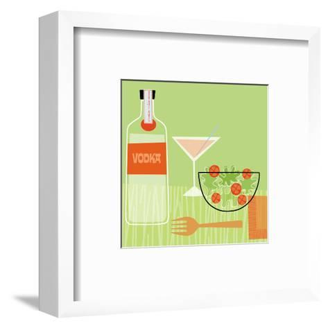 Vodka and Salad--Framed Art Print