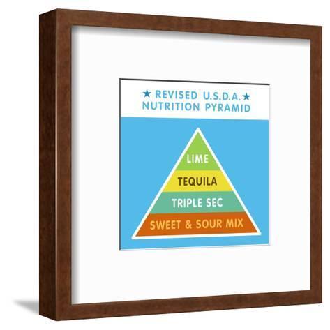 Revised Nutrition Pyramid--Framed Art Print