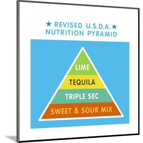 Revised Nutrition Pyramid--Mounted Art Print