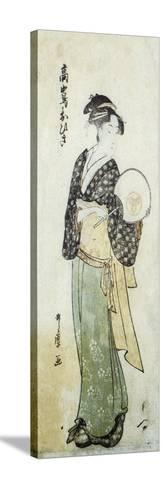 Front View of Ohisa-Kitagawa Utamaro-Stretched Canvas Print