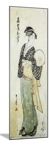 Front View of Ohisa-Kitagawa Utamaro-Mounted Art Print