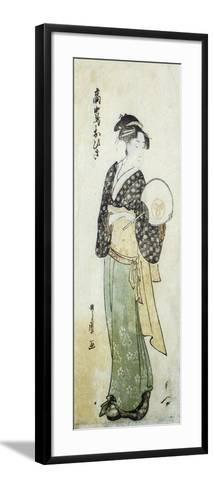 Front View of Ohisa-Kitagawa Utamaro-Framed Art Print