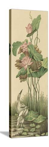 Crane and Lotus Panel I-Racinet-Stretched Canvas Print