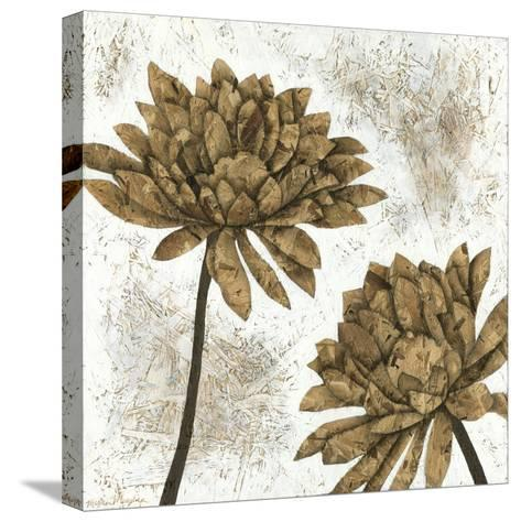 White Washed Dahlias I-Megan Meagher-Stretched Canvas Print