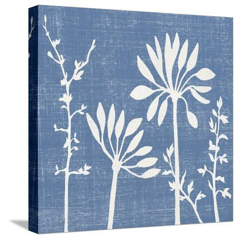 Blue Linen IV-Megan Meagher-Stretched Canvas Print