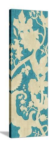 Linen Silhouette on Teal II-Chariklia Zarris-Stretched Canvas Print