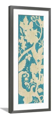 Linen Silhouette on Teal II-Chariklia Zarris-Framed Art Print