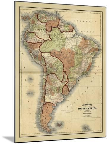 Antique Map of South America-Alvin Johnson-Mounted Art Print