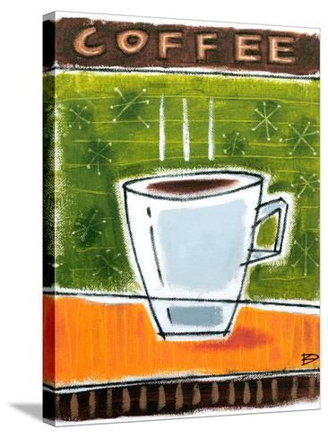 Retro Coffee-Ken Daly-Stretched Canvas Print