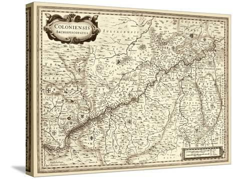 Antiquarian Map II-Vision Studio-Stretched Canvas Print