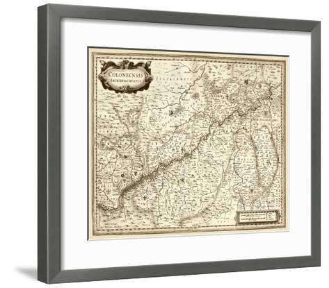 Antiquarian Map II-Vision Studio-Framed Art Print