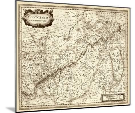 Antiquarian Map II-Vision Studio-Mounted Art Print