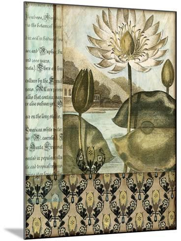 Elegant Water Lily I-Megan Meagher-Mounted Art Print