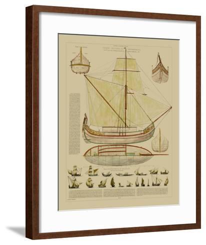 Antique Ship Plan I-Vision Studio-Framed Art Print