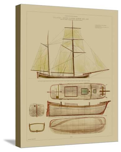 Antique Ship Plan IV-Vision Studio-Stretched Canvas Print