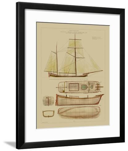 Antique Ship Plan IV-Vision Studio-Framed Art Print