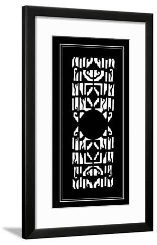 Shoji Screen in Ebony I-Vision Studio-Framed Art Print