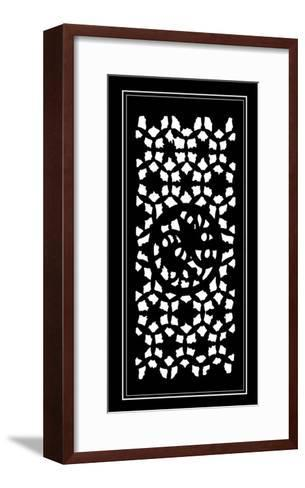 Shoji Screen in Ebony II-Vision Studio-Framed Art Print
