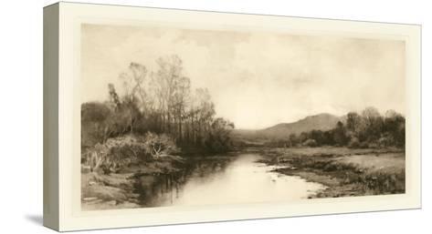 Tranquil Riverscape II-Julian Rix-Stretched Canvas Print