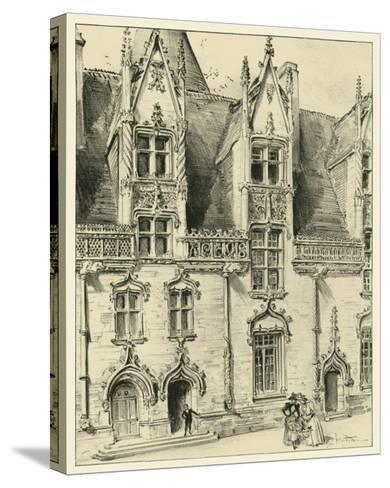 Ornate Facade II-Albert Robida-Stretched Canvas Print