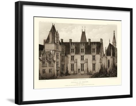 Sepia Chateaux I-Victor Petit-Framed Art Print
