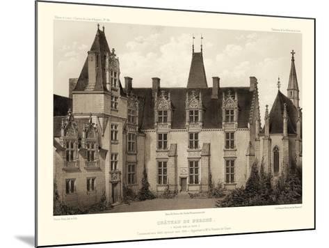 Sepia Chateaux I-Victor Petit-Mounted Art Print
