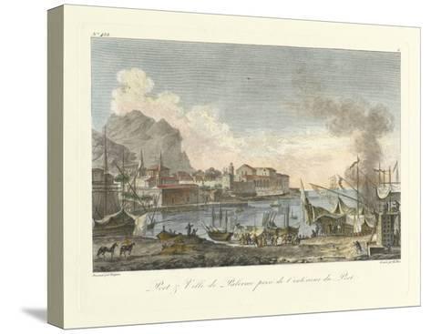 Port and Villa II--Stretched Canvas Print