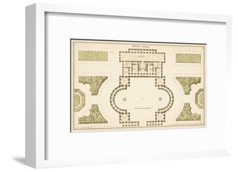 Antique Garden Plan II-Jean Deneufforge-Framed Art Print