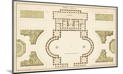 Antique Garden Plan II-Jean Deneufforge-Mounted Art Print