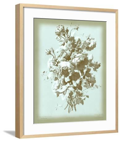 Dussurgey Roses on Blue-Dussurgey-Framed Art Print