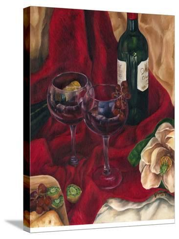 Jennifer's Wine Indulgence II-Jennifer Goldberger-Stretched Canvas Print