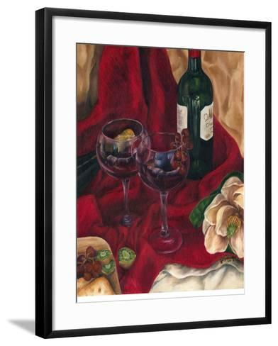 Jennifer's Wine Indulgence II-Jennifer Goldberger-Framed Art Print