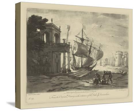 Antique Harbor IV-Claude Lorraine-Stretched Canvas Print