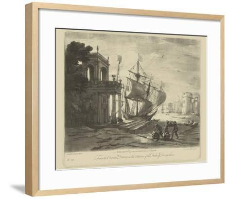 Antique Harbor IV-Claude Lorraine-Framed Art Print