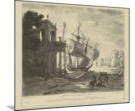 Antique Harbor IV-Claude Lorraine-Mounted Art Print