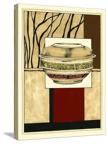 Printed Porcelain Garden II-Jennifer Goldberger-Stretched Canvas Print