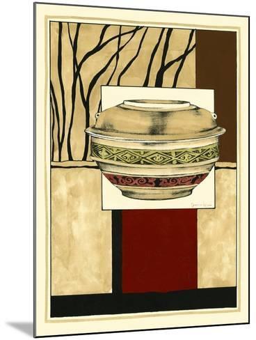 Printed Porcelain Garden II-Jennifer Goldberger-Mounted Art Print
