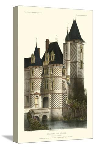 French Chateaux in Blue II-Victor Petit-Stretched Canvas Print