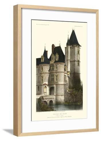 French Chateaux in Blue II-Victor Petit-Framed Art Print