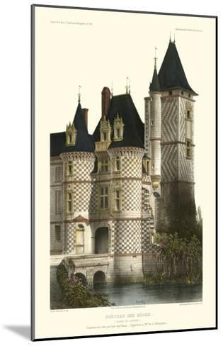 French Chateaux in Blue II-Victor Petit-Mounted Art Print