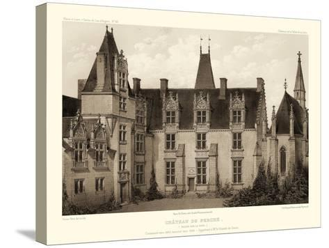 Petite Sepia Chateaux I-Victor Petit-Stretched Canvas Print