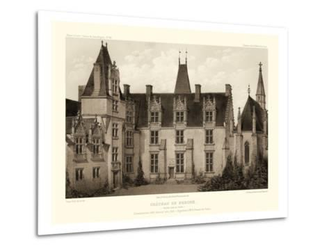 Petite Sepia Chateaux I-Victor Petit-Metal Print