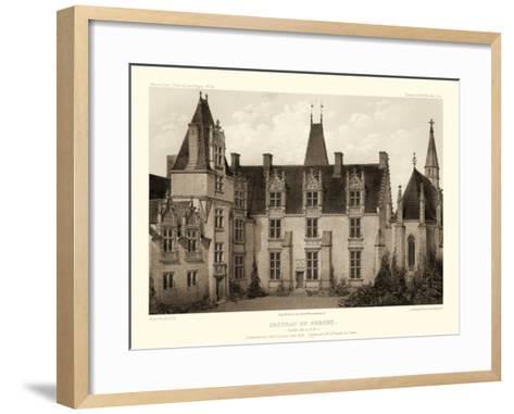 Petite Sepia Chateaux I-Victor Petit-Framed Art Print