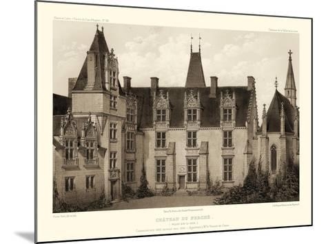 Petite Sepia Chateaux I-Victor Petit-Mounted Art Print